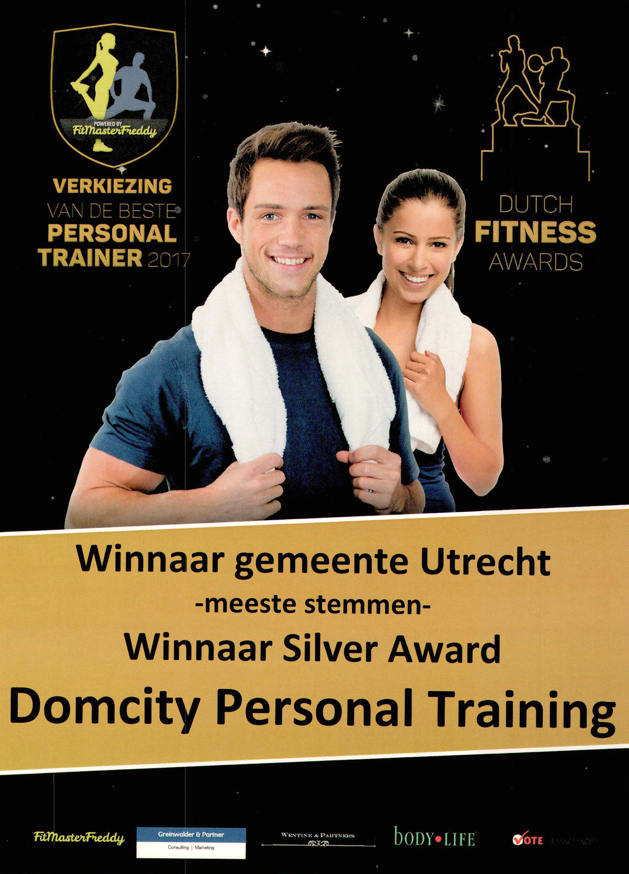 Winnaar Dutch fitness awards